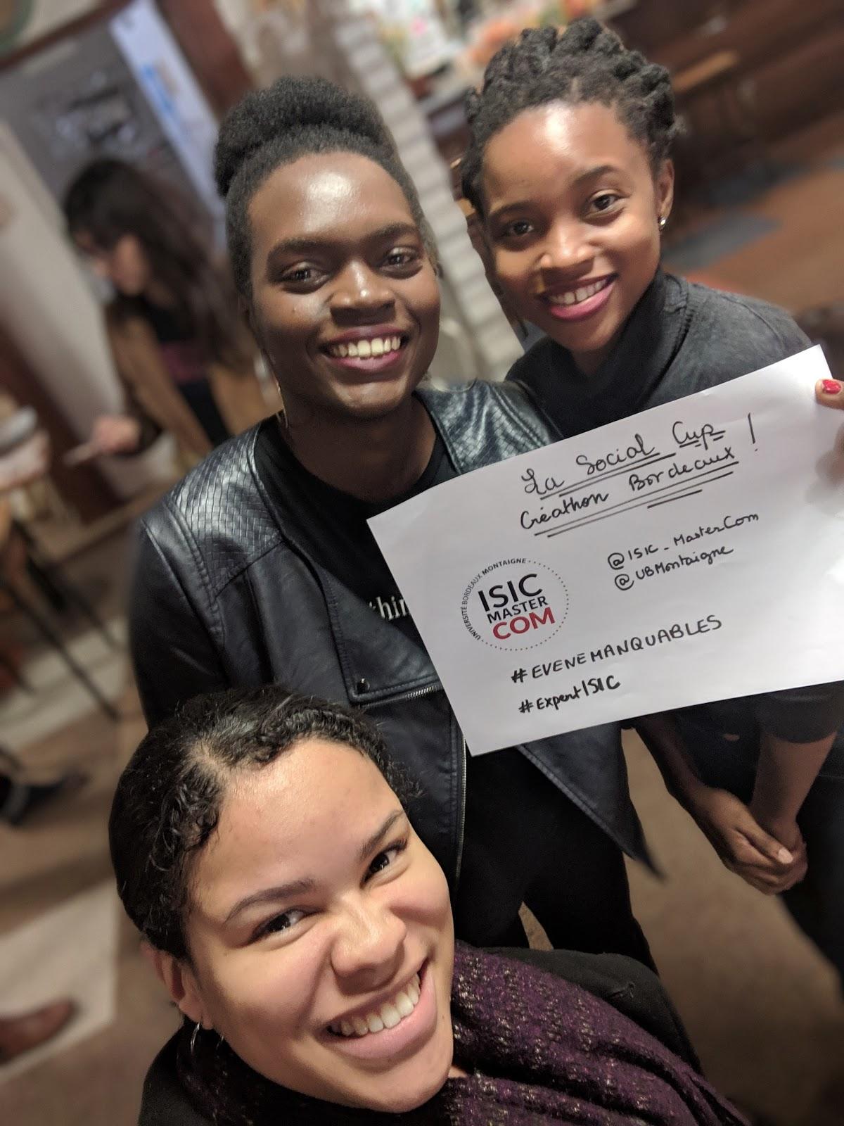 La Social Cup : Les étudiantes de l'ISIC s'invitent au créathon de Bordeaux !