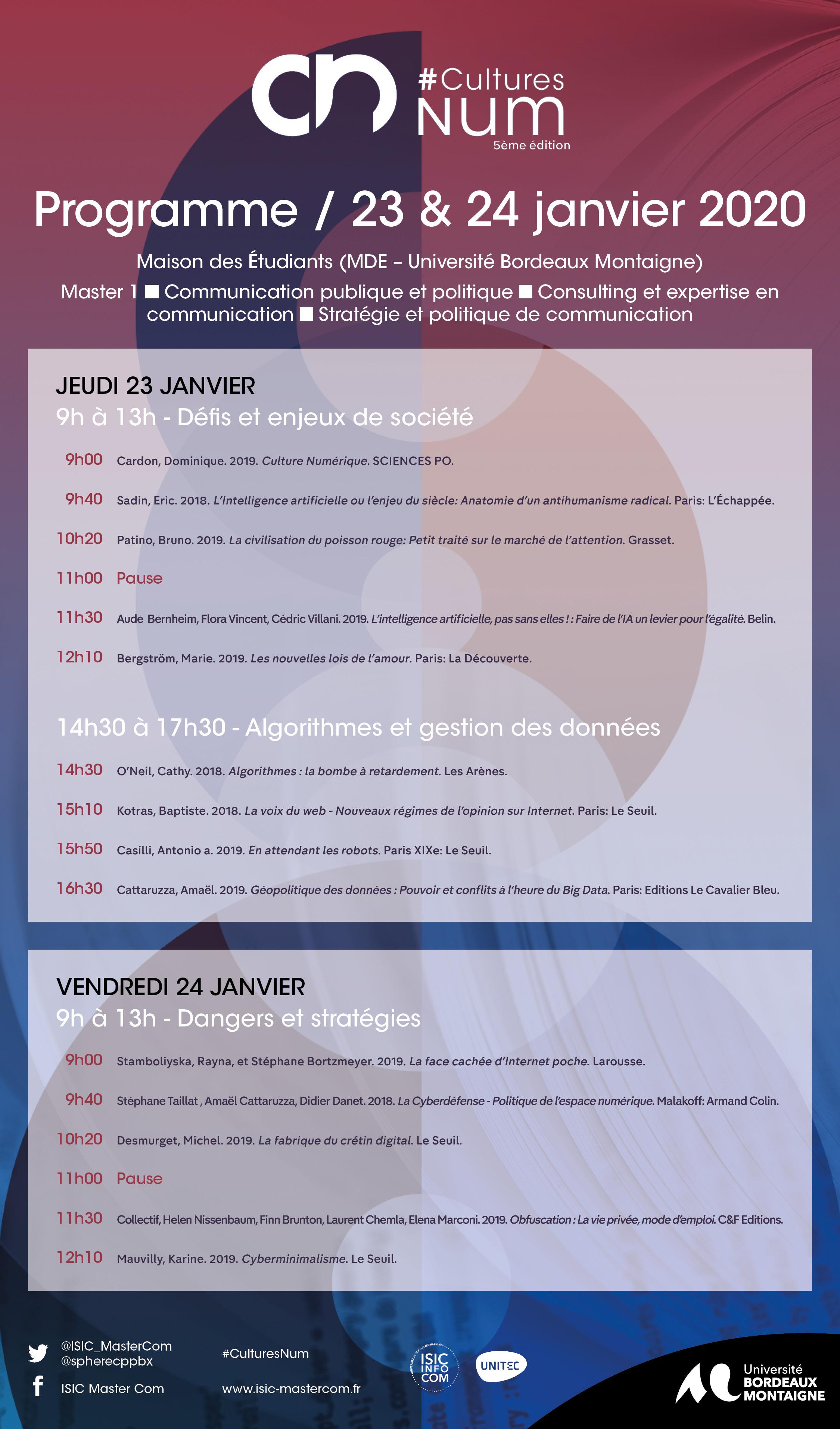 #CulturesNum – 5ème édition les 23 et 24 janvier 2020