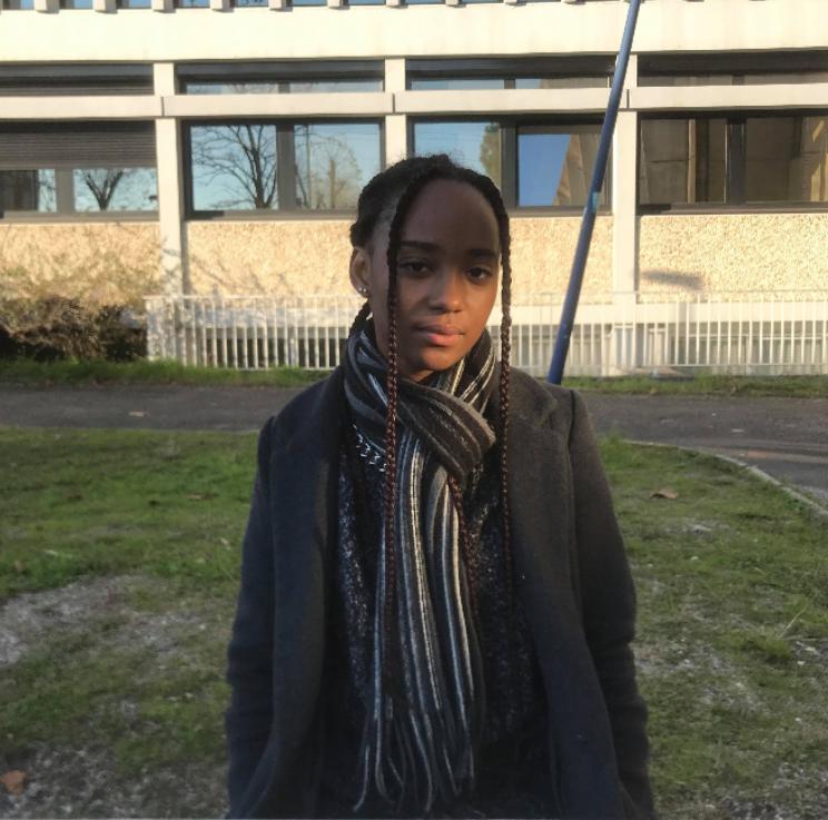 Anne-Sarah, étudiante en master venant de Côte d'Ivoir