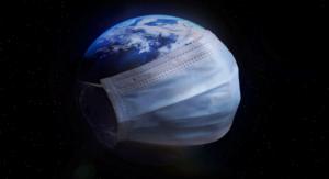 Planète Terre avec masque